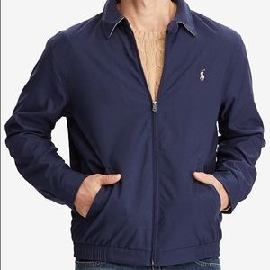 Navy polo zip up